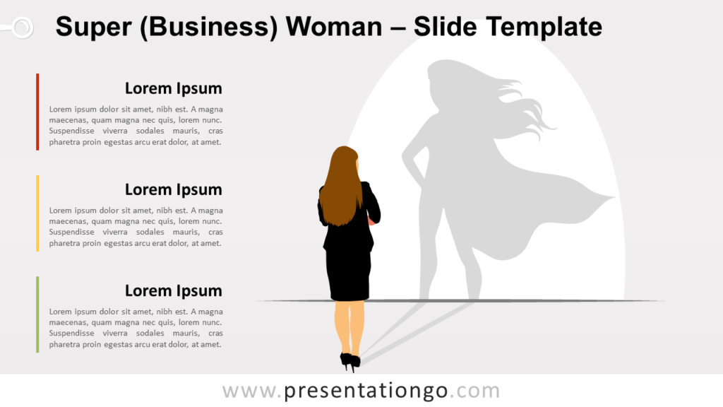 Free Super Businesswoman for PowerPoint and Google Slides