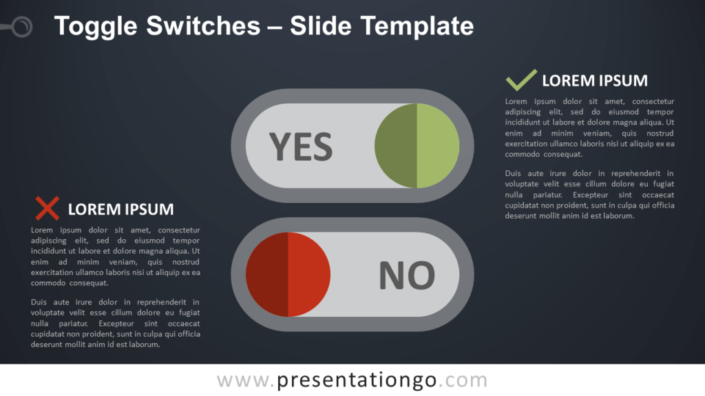 Free Toggle Switches Infographic for PowerPoint and Google Slides