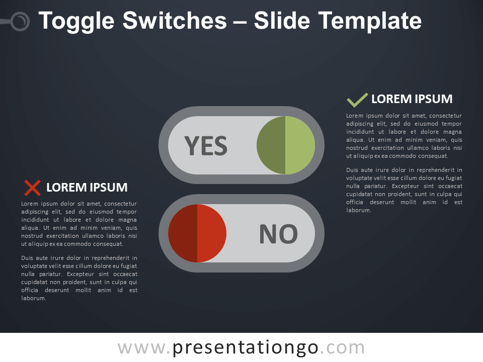 Free Toggle Switches Infographic for PowerPoint