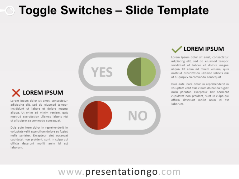 Free Toggle Switches for PowerPoint
