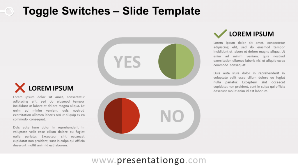 Free Toggle Switches for PowerPoint and Google Slides