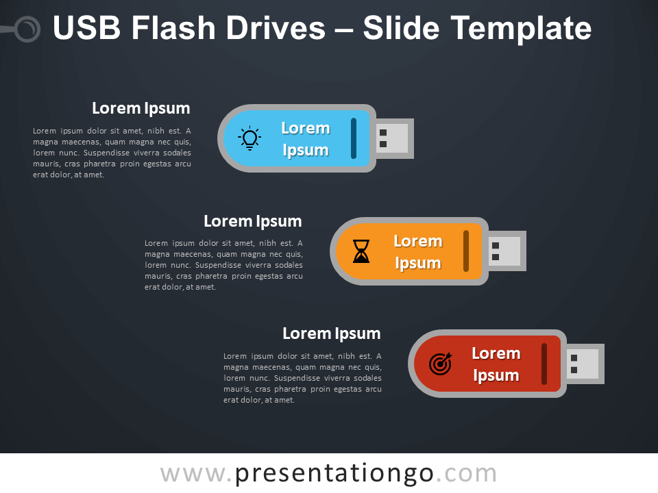 Free USB Flash Drives Infographic for PowerPoint