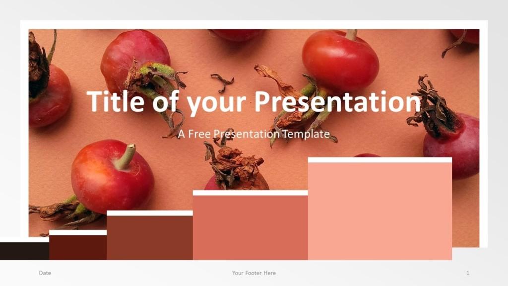 Free Chart Palette Template for Google Slides - Cover Slide