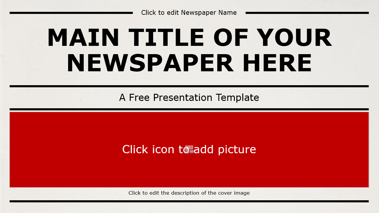 Newspaper Template For Powerpoint And Google Slides