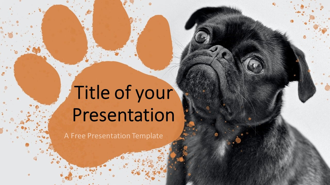 Free Pets Template for Google Slides - Cover Slide