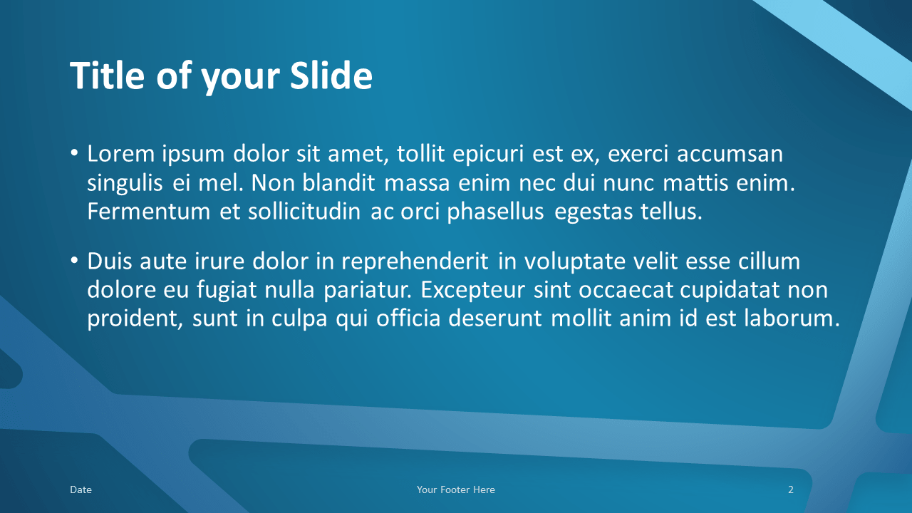 Free BLUE WEB Template for Google Slides – Title and Content Slide (Variant 1)