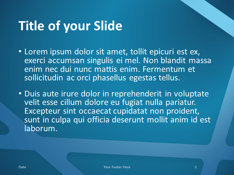 Free BLUE WEB Template for PowerPoint – Title and Content Slide (Variant 1)