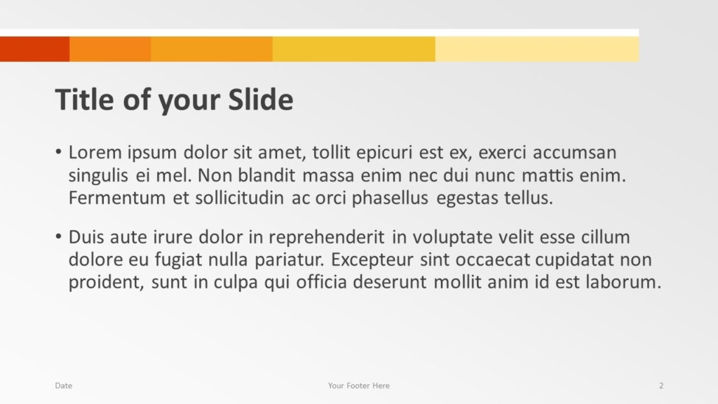 Free Chart Palette Template for Google Slides – Title and Content Slide (Variant 1)