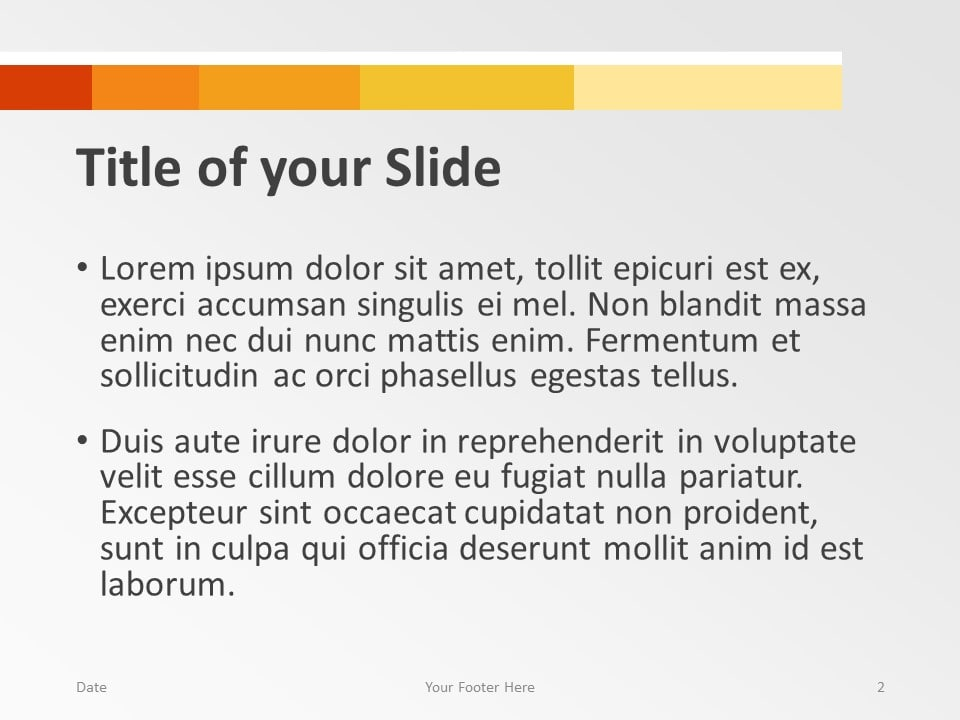 Free Chart Palette Template for PowerPoint – Title and Content Slide (Variant 1)