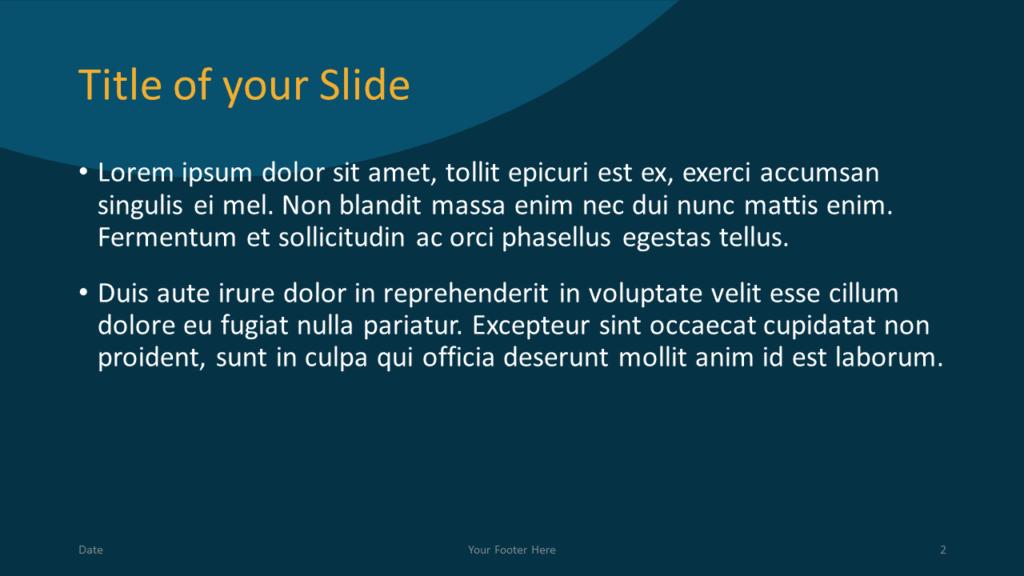 Free Golden Ring Template for Google Slides – Title and Content Slide (Variant 1)