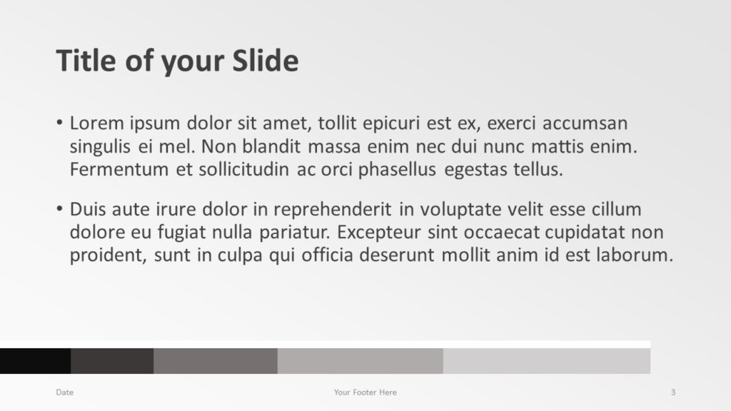 Free Chart Palette Template for Google Slides – Title and Content Slide (Variant 2)