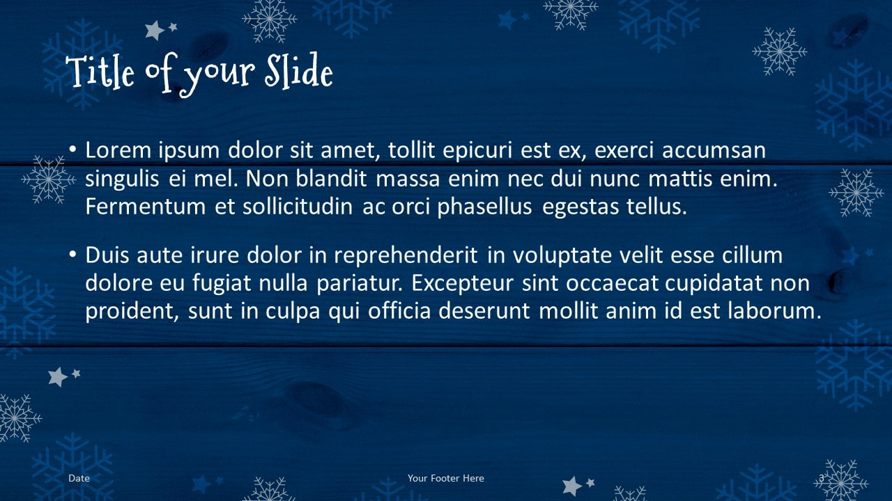 Free Christmas Frames Template for Google Slides – Title and Content Slide (Variant 2)