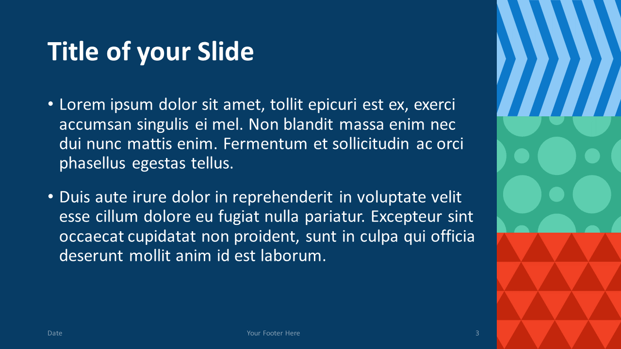 Free NEO GEOMETRIC Template for Google Slides – Title and Content Slide (Variant 2)