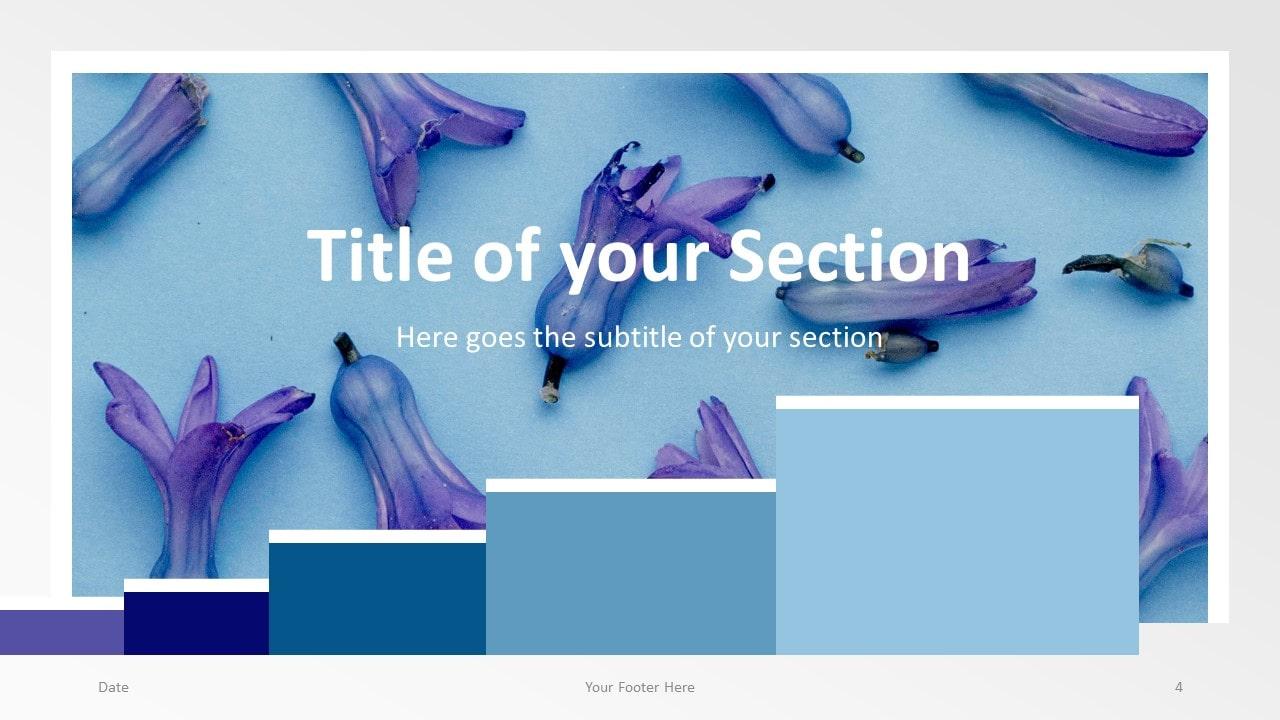 Free Chart Palette Template for Google Slides – Section Slide (Variant 1)