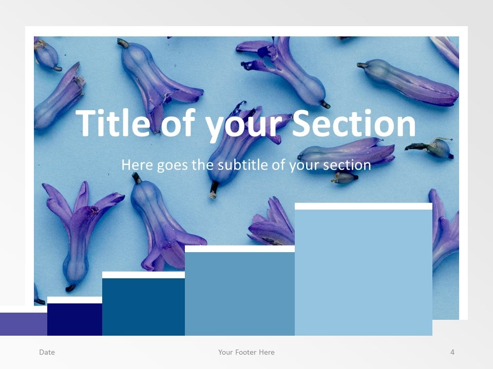 Free Chart Palette Template for PowerPoint – Section Slide (Variant 1)