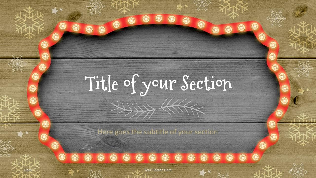 Free Christmas Frames Template for Google Slides – Section Slide (Variant 1)