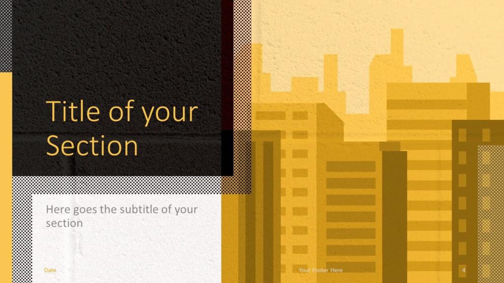 Free Downtown Template for Google Slides – Section Slide (Variant 1)