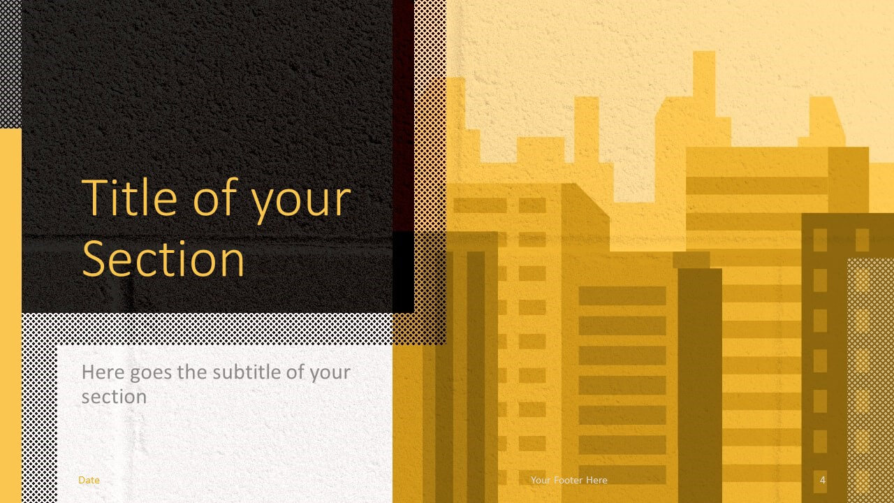 Free Downtown Template for Google Slides – Section Slide (Variant 1)