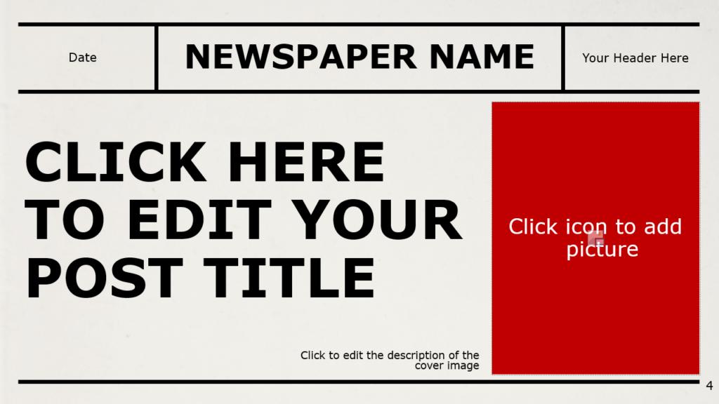 Free NEWSPAPER Template for Google Slides – Section Slide (Variant 1)