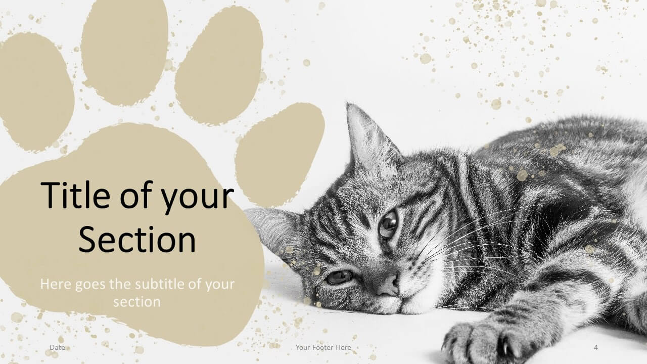 Free Pets Template for Google Slides – Section Slide (Variant 1)