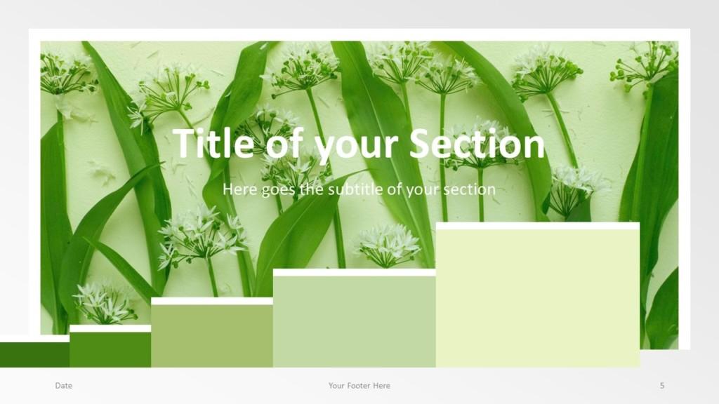 Free Chart Palette Template for Google Slides – Section Slide (Variant 2)