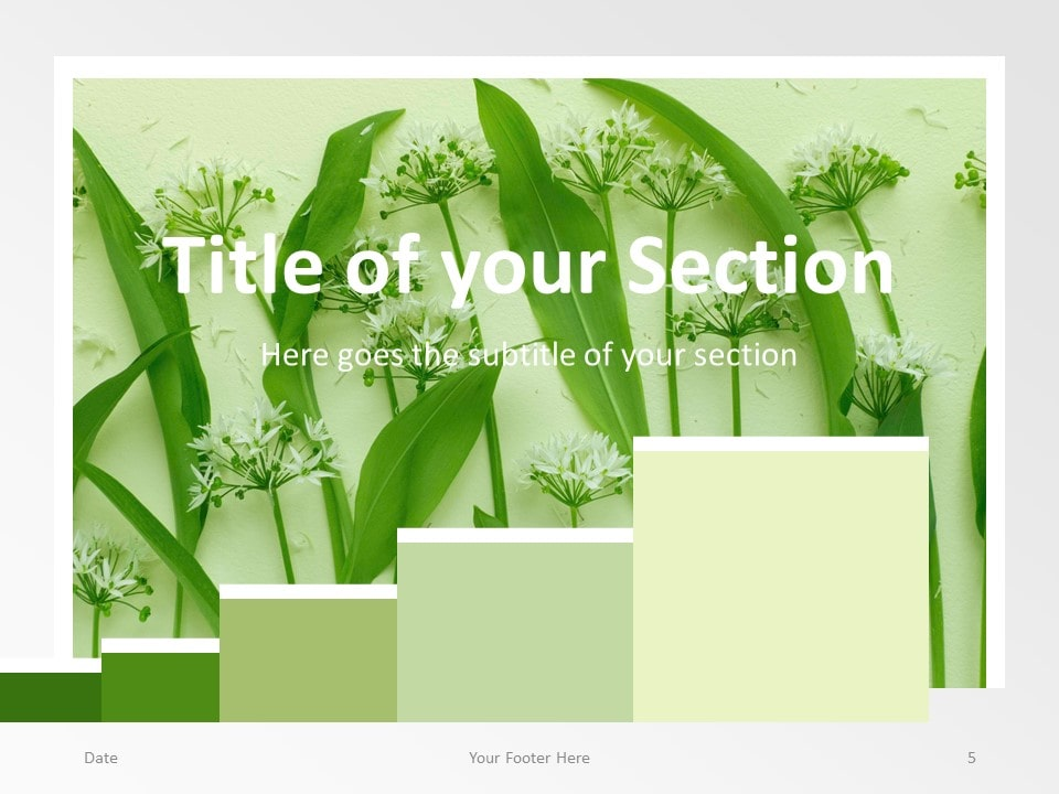 Free Chart Palette Template for PowerPoint – Section Slide (Variant 2)