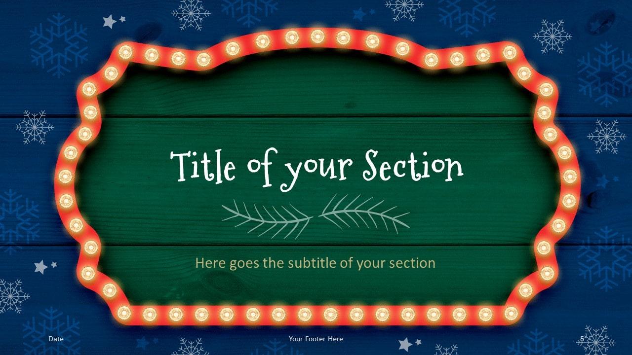 Free Christmas Frames Template for Google Slides – Section Slide (Variant 2)