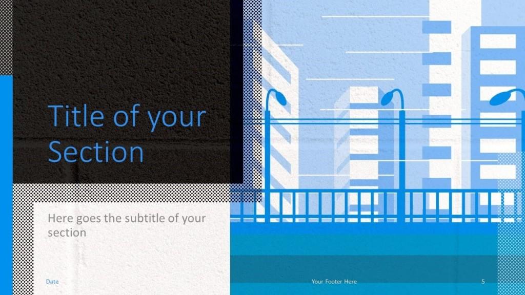 Free Downtown Template for Google Slides – Section Slide (Variant 2)