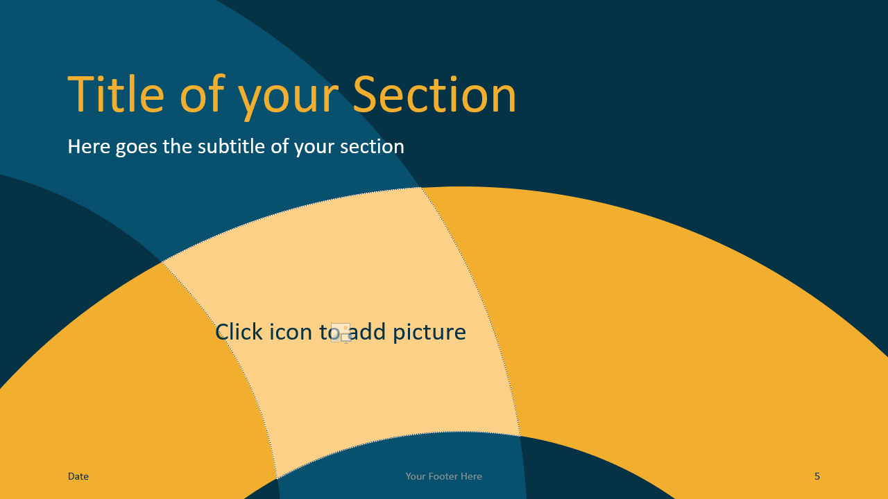 Free Golden Ring Template for Google Slides – Section Slide (Variant 2)