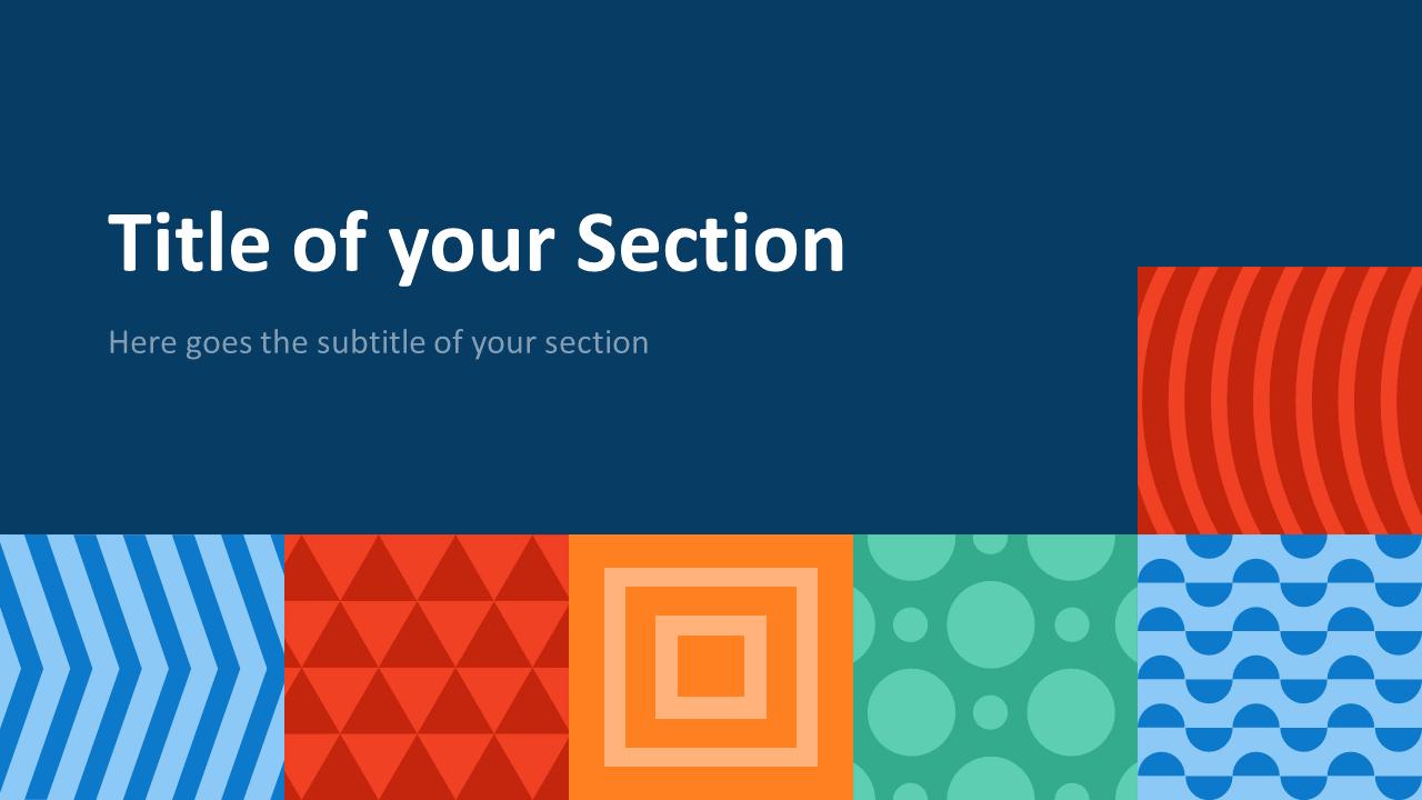 Free NEO GEOMETRIC Template for Google Slides – Section Slide (Variant 2)