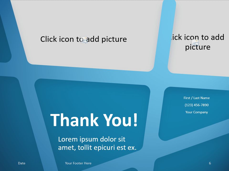 Free BLUE WEB Template for PowerPoint - Closing / Thank you