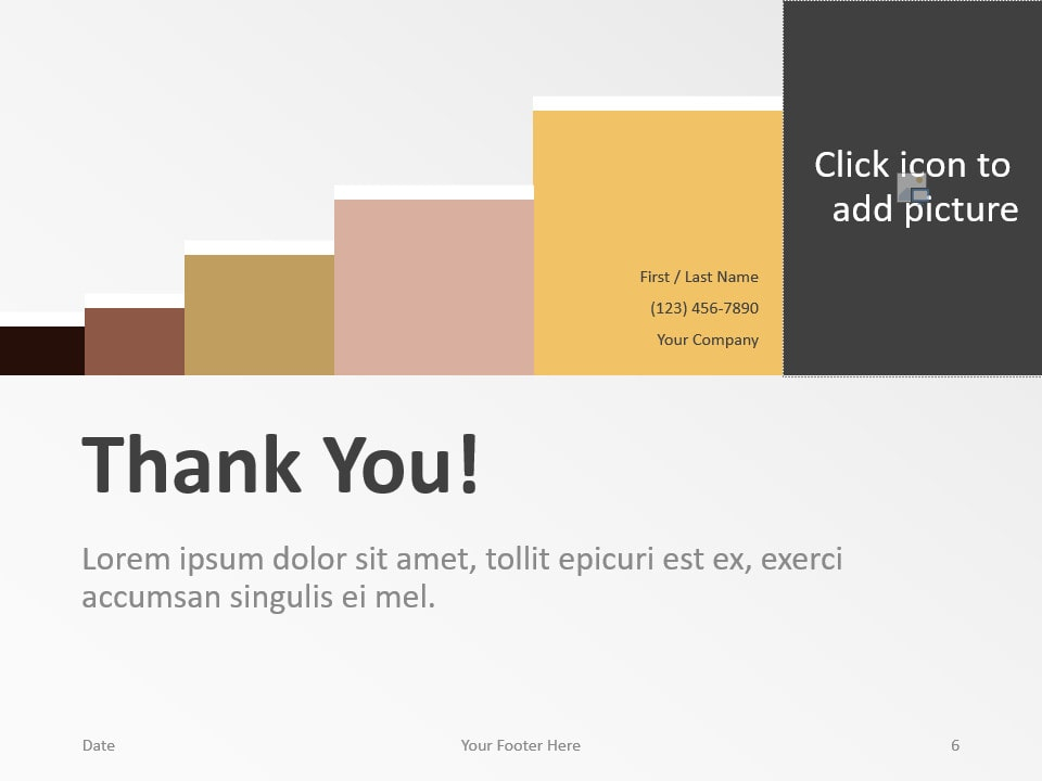 Free Chart Palette Template for PowerPoint - Closing / Thank you