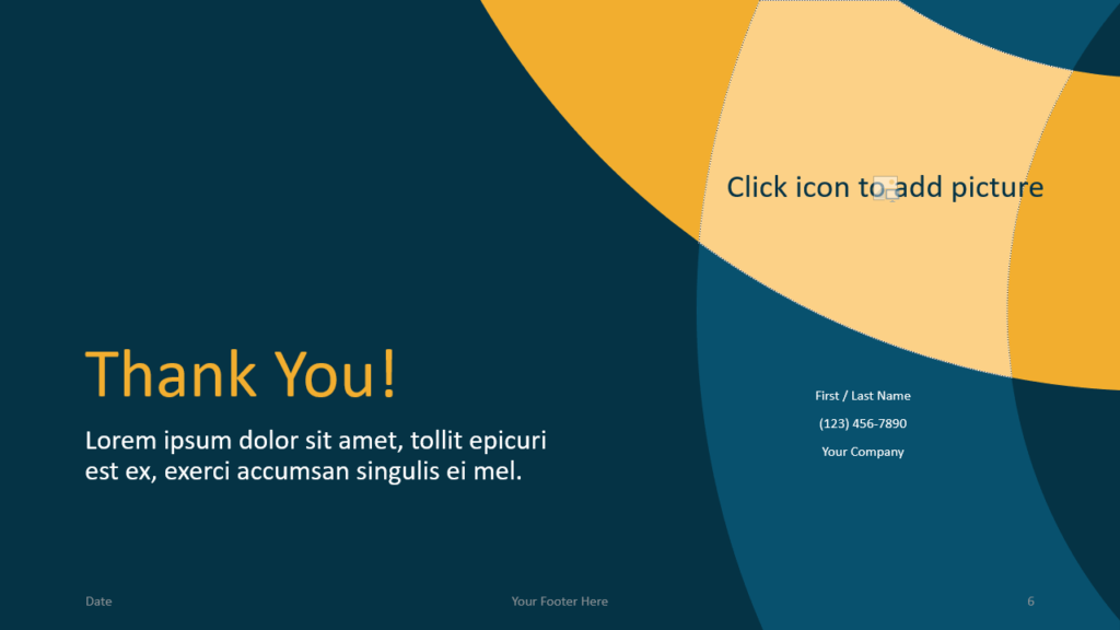 Free Golden Ring Template for Google Slides - Closing / Thank you