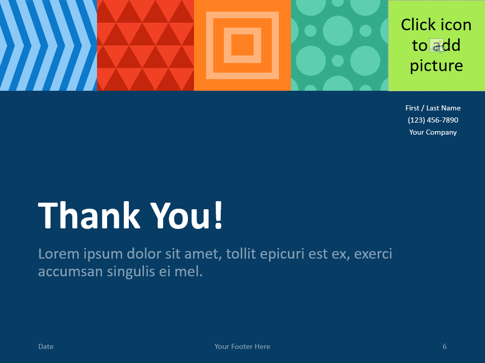 Free NEO GEOMETRIC Template for PowerPoint - Closing / Thank you