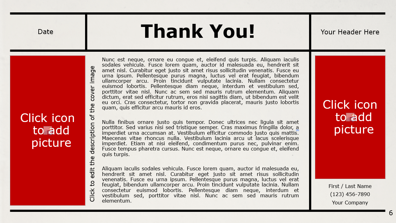 Free NEWSPAPER Template for Google Slides - Closing / Thank you