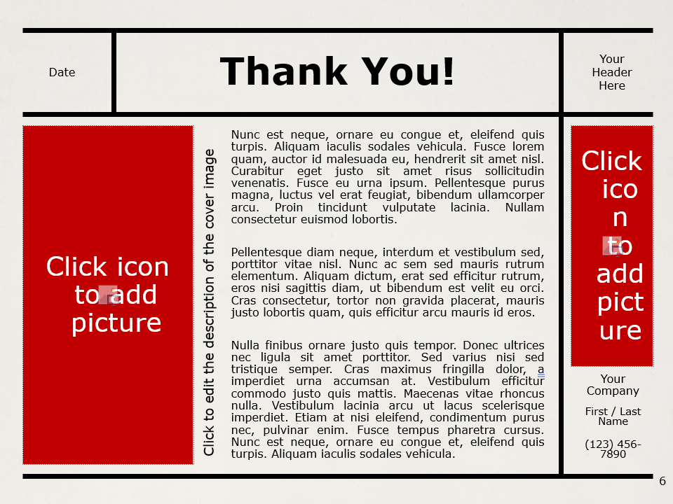 Free NEWSPAPER Template for PowerPoint - Closing / Thank you
