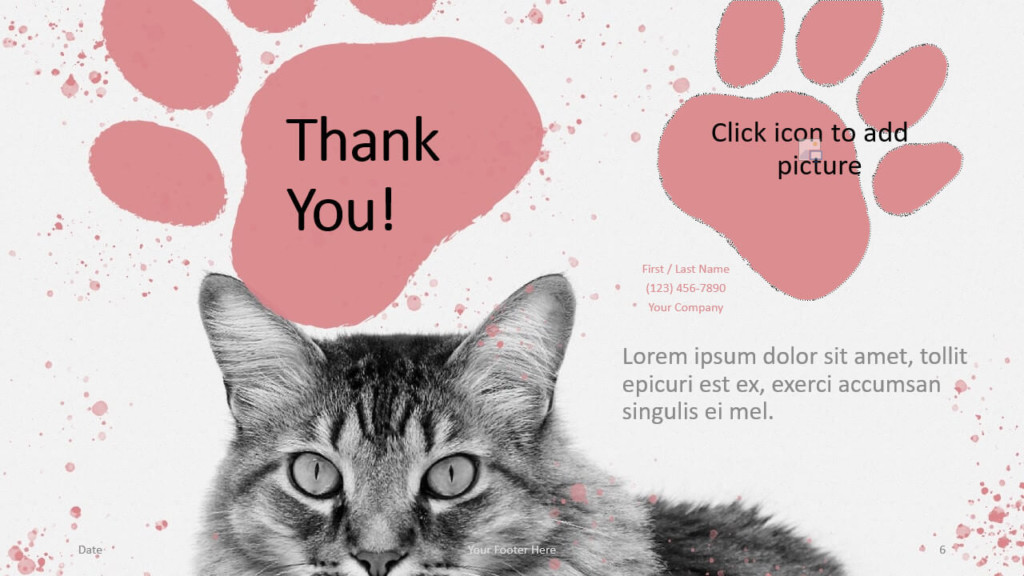 Free Pets Template for Google Slides - Closing / Thank you