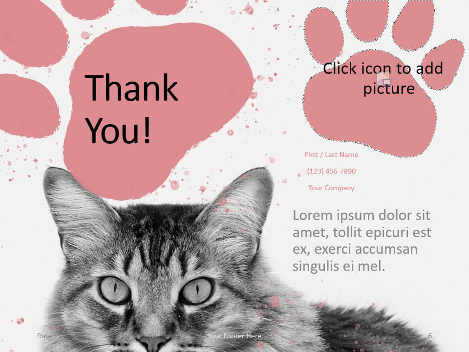 Free Pets Template for PowerPoint - Closing / Thank you