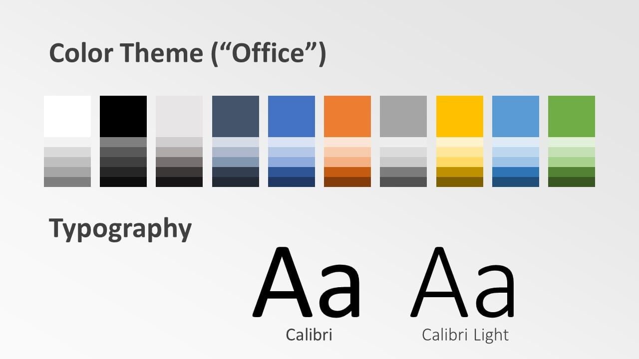 Free Chart Palette Template for Google Slides – Colors and Fonts