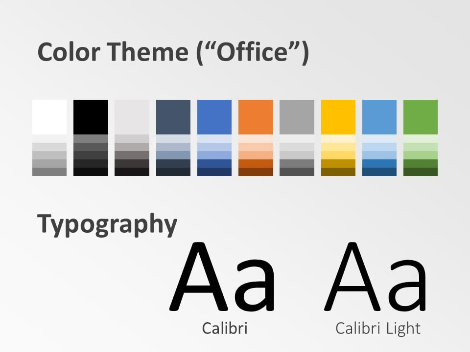 Free Chart Palette Template for PowerPoint – Colors and Fonts