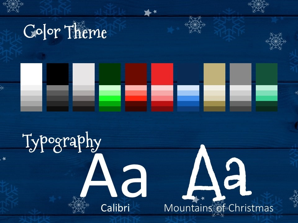 Free Christmas Frames Template for PowerPoint – Colors and Fonts