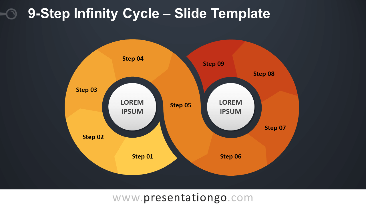 Free 9-Step Infinity Cycle Diagram for PowerPoint and Google Slides
