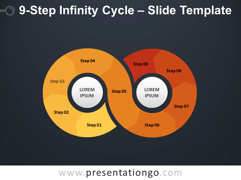 Free 9-Step Infinity Cycle Diagram for PowerPoint