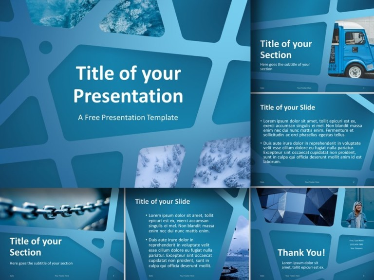 Free BLUE WEB Template for PowerPoint and Google Slides
