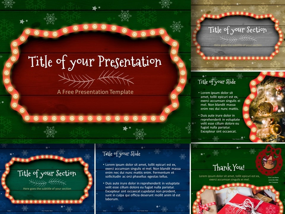Christmas Frames Template For Powerpoint And Google Slides