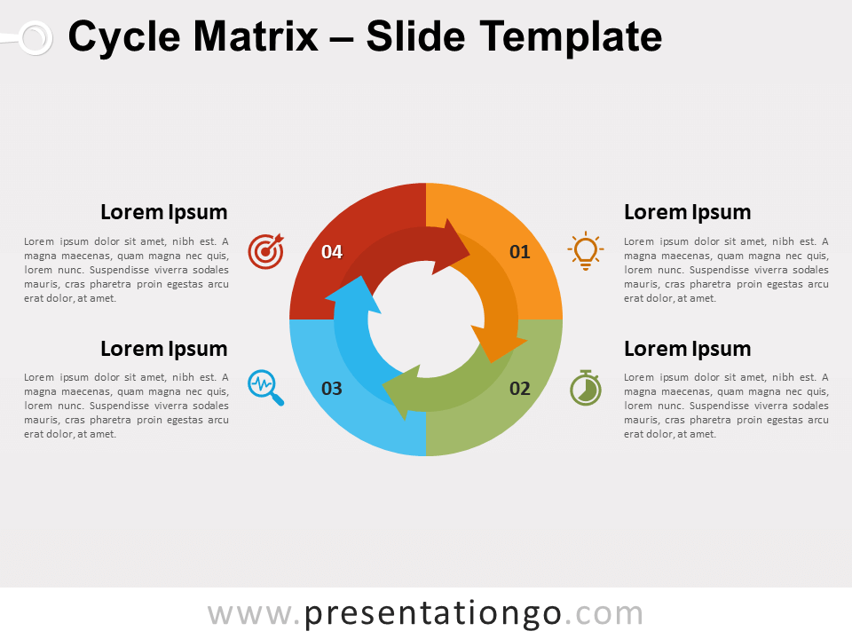 Free Cycle Matrix for PowerPoint