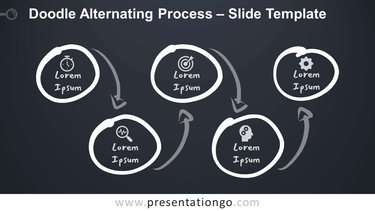 Free Doodle Alternating Process Infographic for PowerPoint and Google Slides
