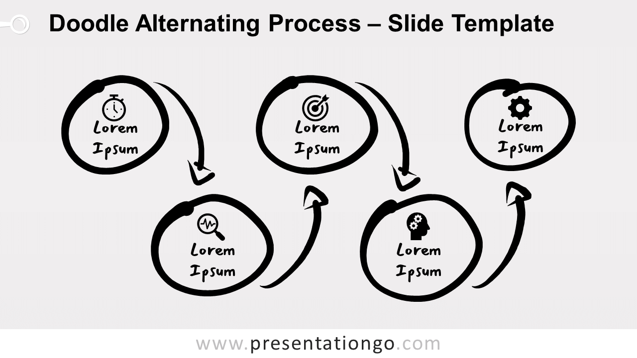 Free Doodle Alternating Process for PowerPoint and Google Slides