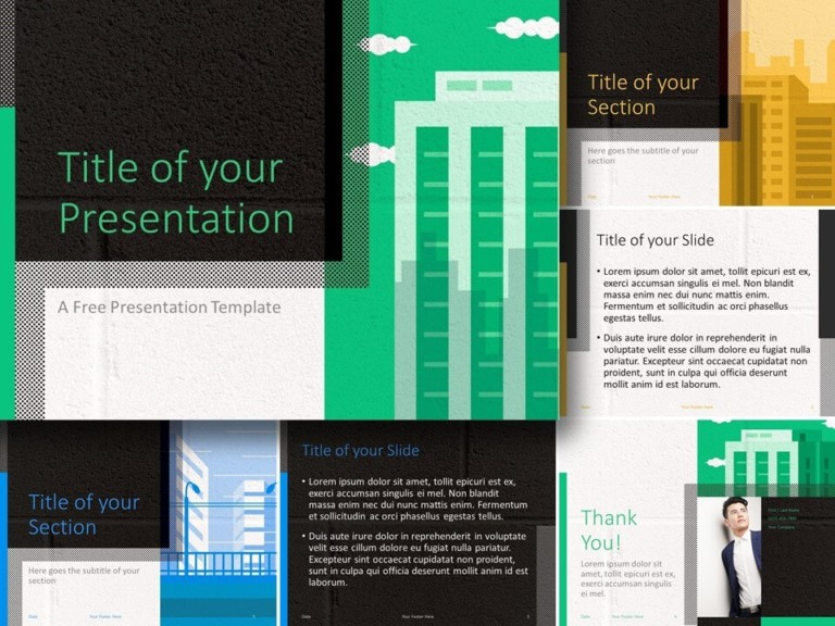 Free Downtown Template for PowerPoint and Google Slides
