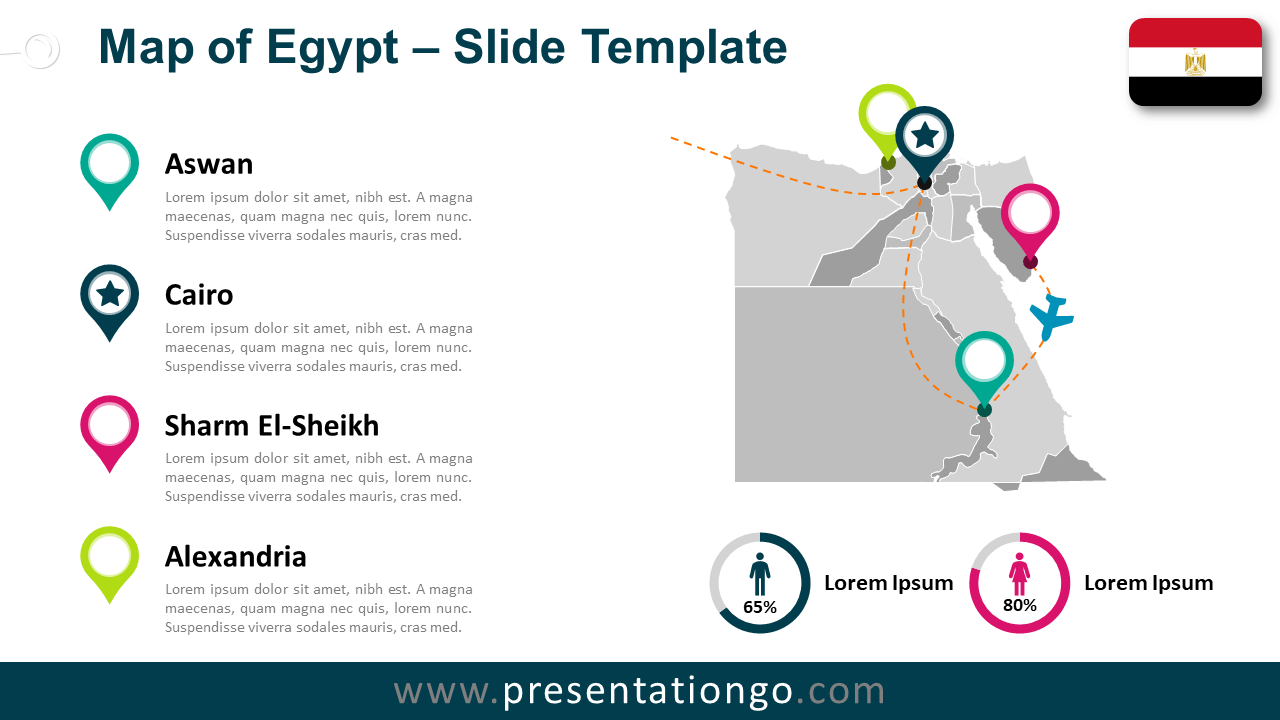Free Egypt Map for PowerPoint and Google Slides